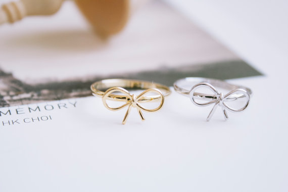 knot ribbon rings knuckle ring knot ring bow ring cute rings rings for women sister rings