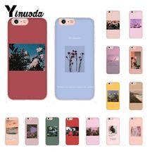 Yinuoda grandes impresiones artísticas flores florecientes recién llegado funda para iPhone x XS MAX 6 6s 7 7plus 8 8Plus 5 5S SE XR 10