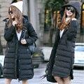 Mulheres nova Chegada do Inverno Parkas de Algodão Em Linha Reta do Tubo Desgaste Neve Casaco Amassado Feminino Jaqueta de Algodão Coreano