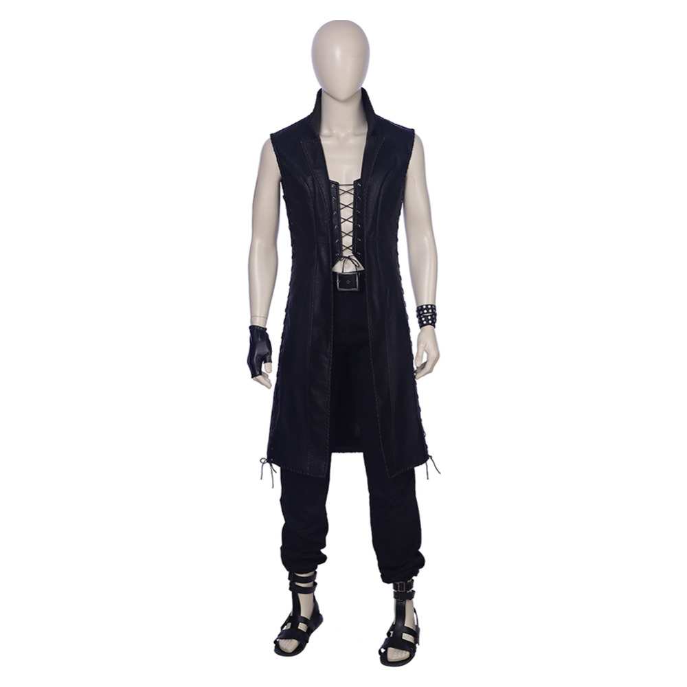 Devil May Cry 5 Cosplay DMC Mysterious Men Vitale V Cosplay Costume Black Outfit Adult Halloween Carnival Costume