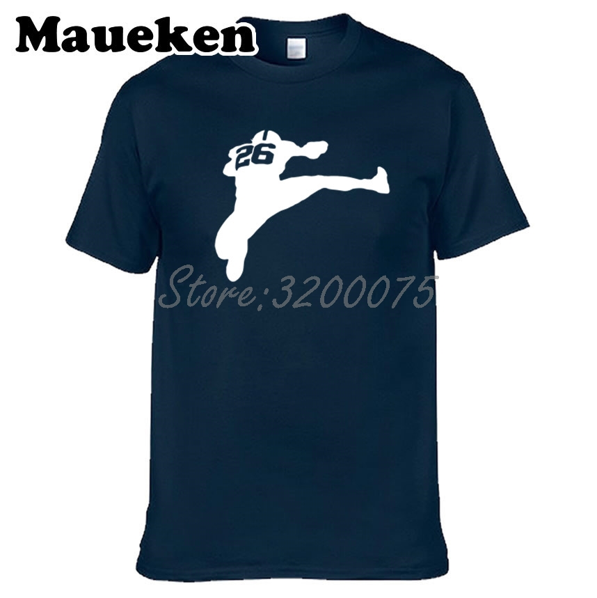 release date: 4f698 dbb95 US $18.88 |Men New York Saquon Barkley 26 jumping T shirt Clothes T Shirt  Men's tshirt tee W18042912-in T-Shirts from Men's Clothing on  Aliexpress.com ...