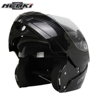 NENKI Motorcycle Full Face Helmet Modular Flip Up Street Bike Moto Motorbike Racing Rding Helmet With