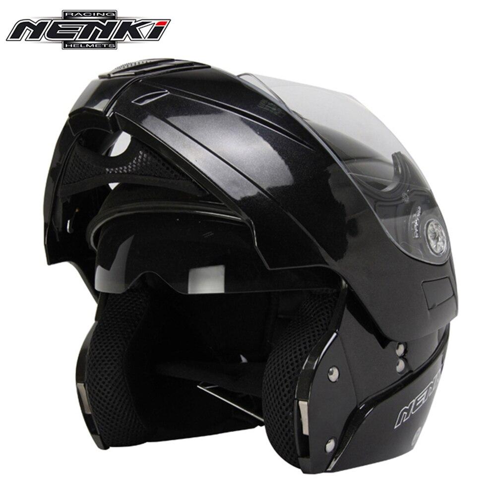 NENKI Motorcycle Full <font><b>Face</b></font> <font><b>Helmet</b></font> Modular Flip Up Street Bike Moto Motorbike RacingRiding <font><b>Helmet</b></font> with Dual Visor Sun Shield Lens