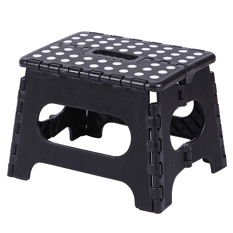 Folding Step Stool Lightweight Plastic Step Stool Non Slip For Kitchen Bathroom Bedroom #3