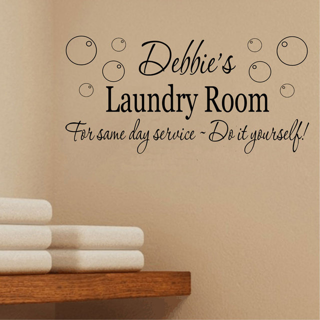 personalised laundry room wall decals washing laundry room quotes