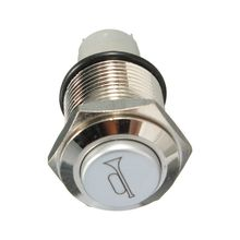 12V 16mm Car LED Light Momentary Horn Button Metal Switch Push Button