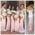Платье De Festa De Casamento V-образным Вырезом Русалка Длинные Невесты Горничной Платье на Вечеринку для Подружки Невесты Платья Новое Прибытие
