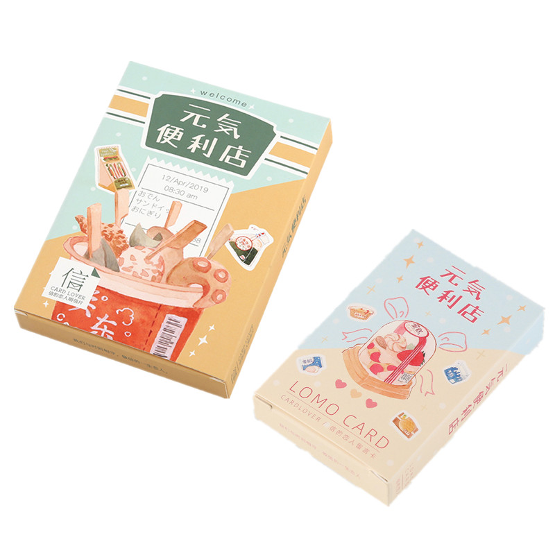 30 Sheets/Set Creative Snacks Convenience Store Postcard Lomo Card Greeting Card Birthday Gift Card 2 Sizes