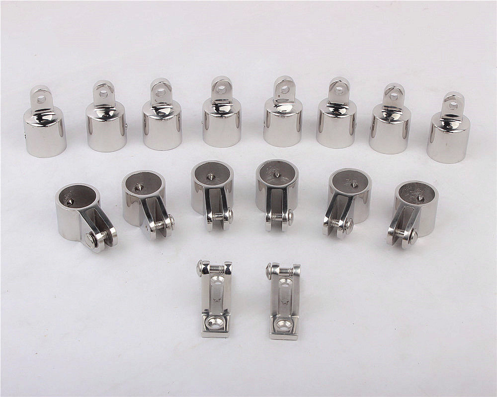 316 Stainless Steel 4 Bow Bimini Top Boat Stainless Steel Fittings Marine Hardware Set boat accessories