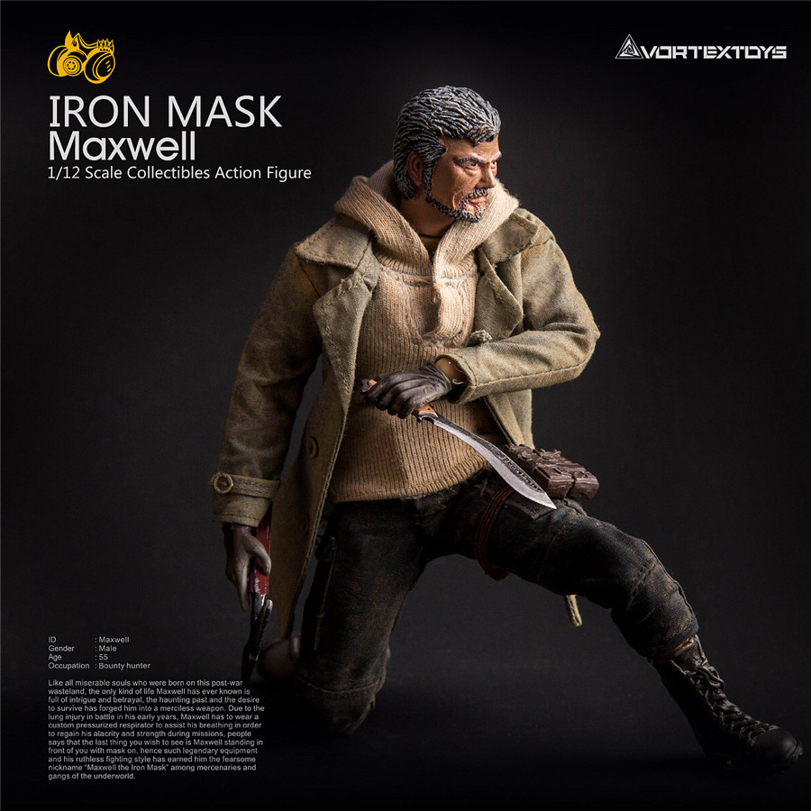 6inch 2 Heads VortexToys YEW Maxwell 1/12 Soldier Set Model Toys Gift Collection