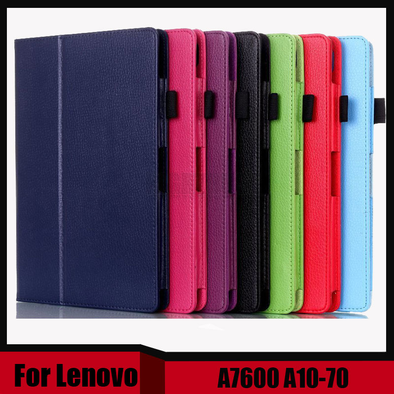 3 in 1 Hot Sale New Arrival Stand Litchi Pu leather case cover For Lenovo A7600 A10-70 A10 70 tablet pc + Stylus + Screen Film 3 in 1 new ultra thin smart pu leather case cover for 2015 lenovo yoga tab 3 850f 8 0 tablet pc stylus screen film