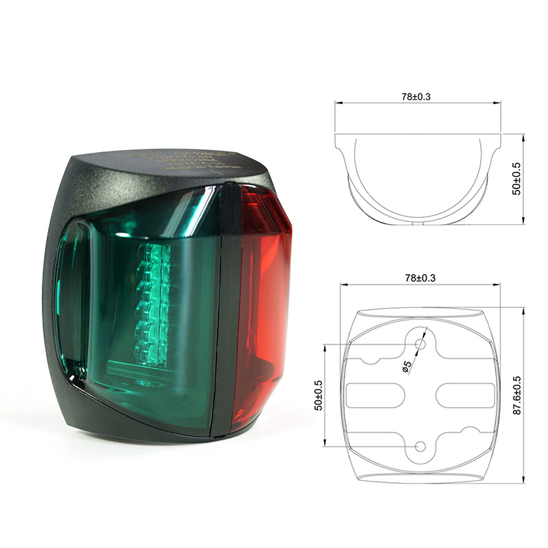 Image 2 - 12V Marine Boat LED Navigation Light 2W Bi Color Red Green Plastic Port Starboard Light-in Marine Hardware from Automobiles & Motorcycles