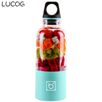 LUCOG 550ml Portable Electric USB Juicer Cup Rechargeable Orange Citrus Lemon Fruit Juicer Blender Juice Smoothie