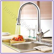 L15801-роскошный хромированный цветной латунный материал съемного вытяжного кухонного крана