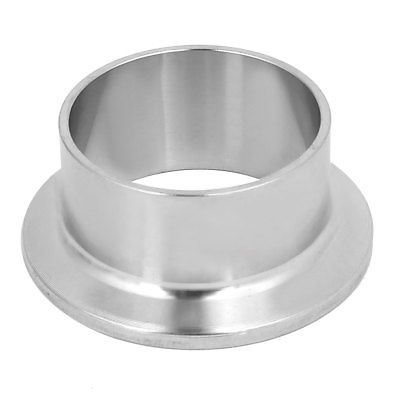 304 Stainless Steel 38mm OD Sanitary Pipe Weld on Ferrule Fits 1.5 Tri Clamp 1 set 8 219mm od sanitary pipe weld ferrule tri clamp silicone gasket stainless steel ss304 swt 219