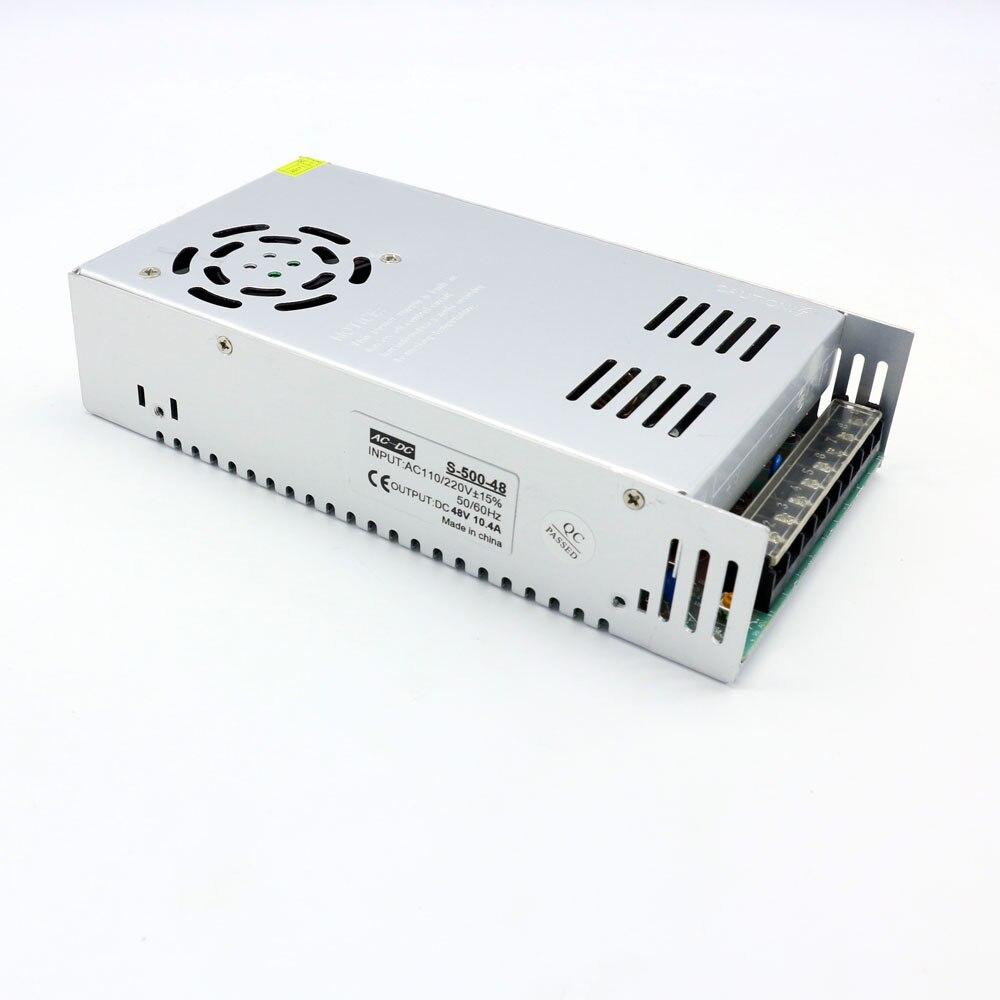 500 W transformador AC220V a 48 V fuente de alimentación llevada 500 W SMPS para mecánico industrial envío libre
