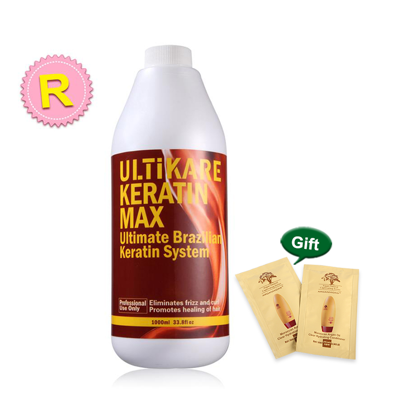 Hot Sale 12% Formalin 1000ML Brazilian Chocolate Keratin Hair Product Treatment Straighten and Repair Resistant Curly Hair Mask image