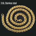 Gold 316L stainless steel Gold men necklace,fashion stainless steel chain necklace men's chain jewelry
