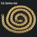Los hombres de Oro de acero inoxidable 316L collar de oro, collar de cadena de acero inoxidable de la manera joyería de la cadena de los hombres