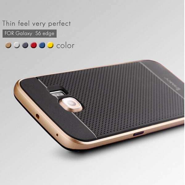 newest 1f663 8d311 US $4.19 16% OFF|iPaky Brand Original Silicone Protector Shell Back Cover  For Samsung Galaxy S6 Edge 2 in 1 Case heavy protection -in Fitted Cases ...