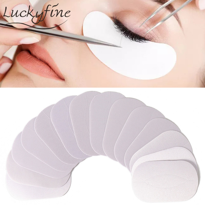 50 Pairs Silk Lint Free Under Eye Pads Eyelashes Makeup Tool Eyes Tips Sticker Wraps Patches For Eyelash Extension Remover 50 pairs new gel eye pads under eye patches for eyelash extension pads lint free patch for eye lashes make up eye tips sticker