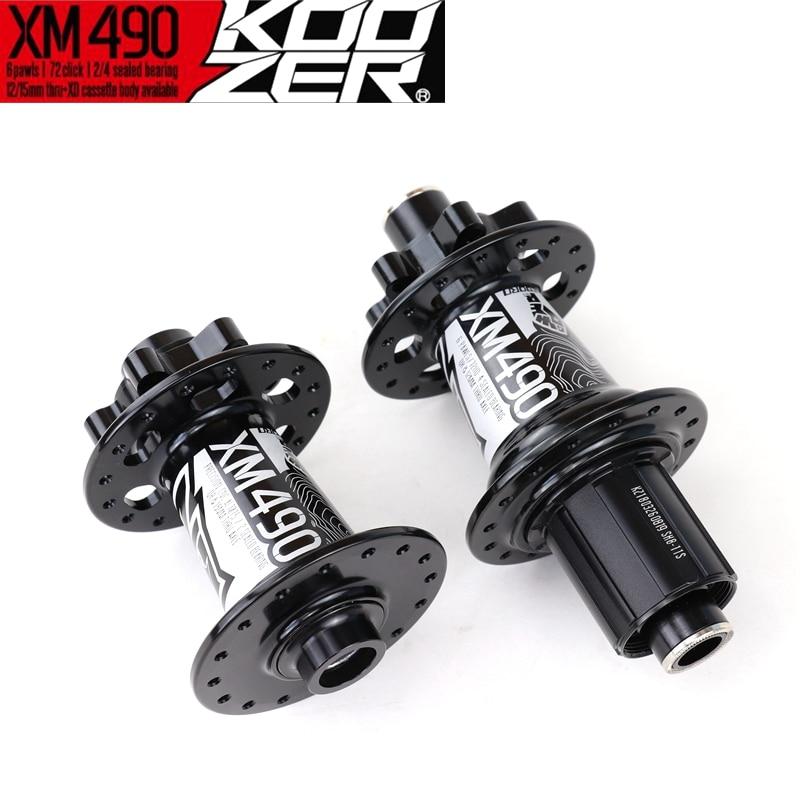 Koozer XM490 72 Clicks 4 Bearings 6 Pawls 32H Mtb CNC Mountain Bicycle Hub With QR