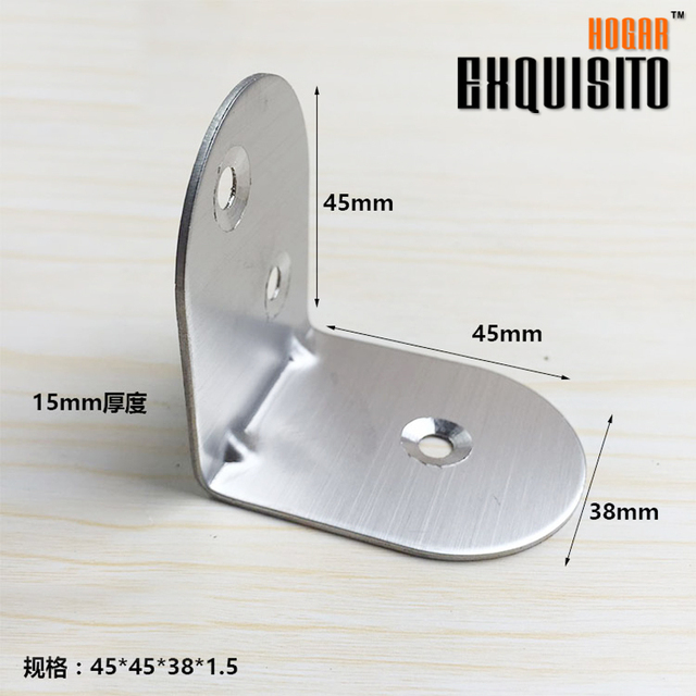 Stainless Steel Angle Angle Cabinet Hardware Connection Angle Iron Partition Fixed Support Laminates Care 90 Degrees GH45X45X38