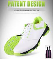 PGM Bayanlar patent tasarım golf ayakkabı anti-yan kayma tırnak kadınlar ultra-hafif su geçirmez nefes Golf Ile Sneakers ayakkabı çanta