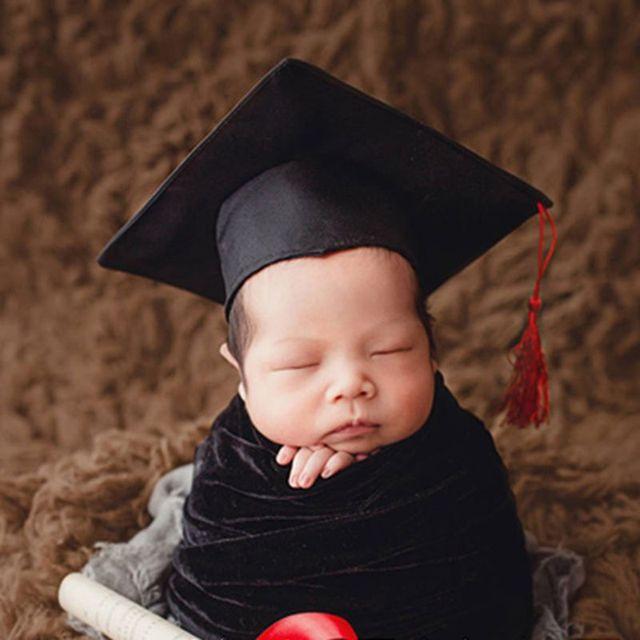 Chapéu do bebê Fotografia Foto Comemorativa Memorial Cap Médico Bonito Engraçado Adereços Traje Crianças Recém-nascidas Lembrança Bacharel Cosplay