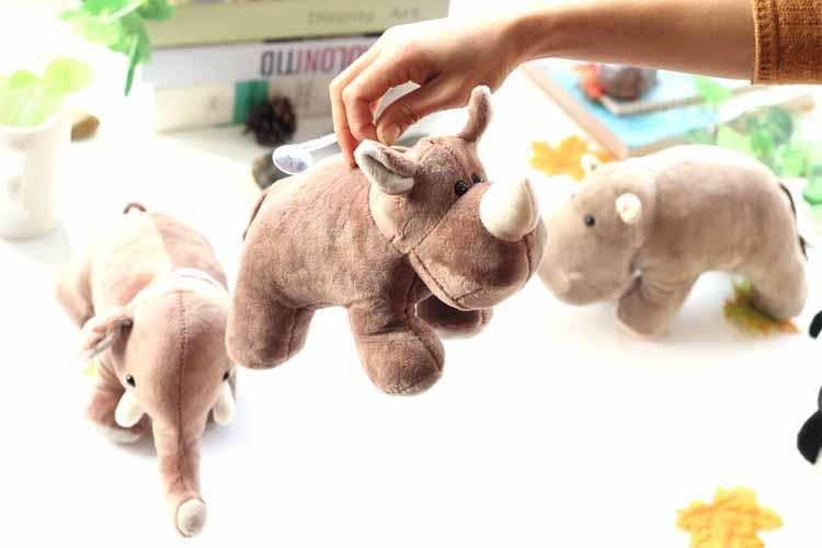 Plush toy Christmas doll toy elephant rhino panda hippo simulation toy baby birthday gift