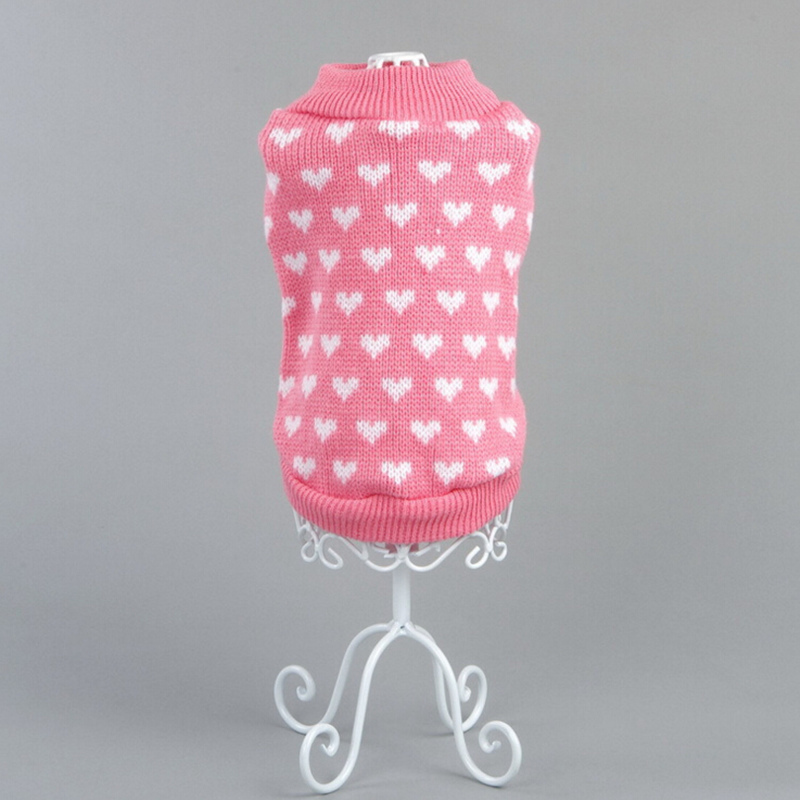 Pet Dog Sweater Clothing Hot Design Small Puppy Autumn Winter Pink Warm Costume Knitwear Dog Clothes for Dogs Cats Accessories