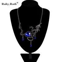 European Fashion Vintage Dragon Pendant Men Women Necklace Dragon Necklace Jewelry