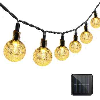 Binval Solar Globe Ball String Lights 30 LED Light String Outdoor Fairy Lights  Garland Christmas Decorations for Home Outdoor - DISCOUNT ITEM  40% OFF All Category