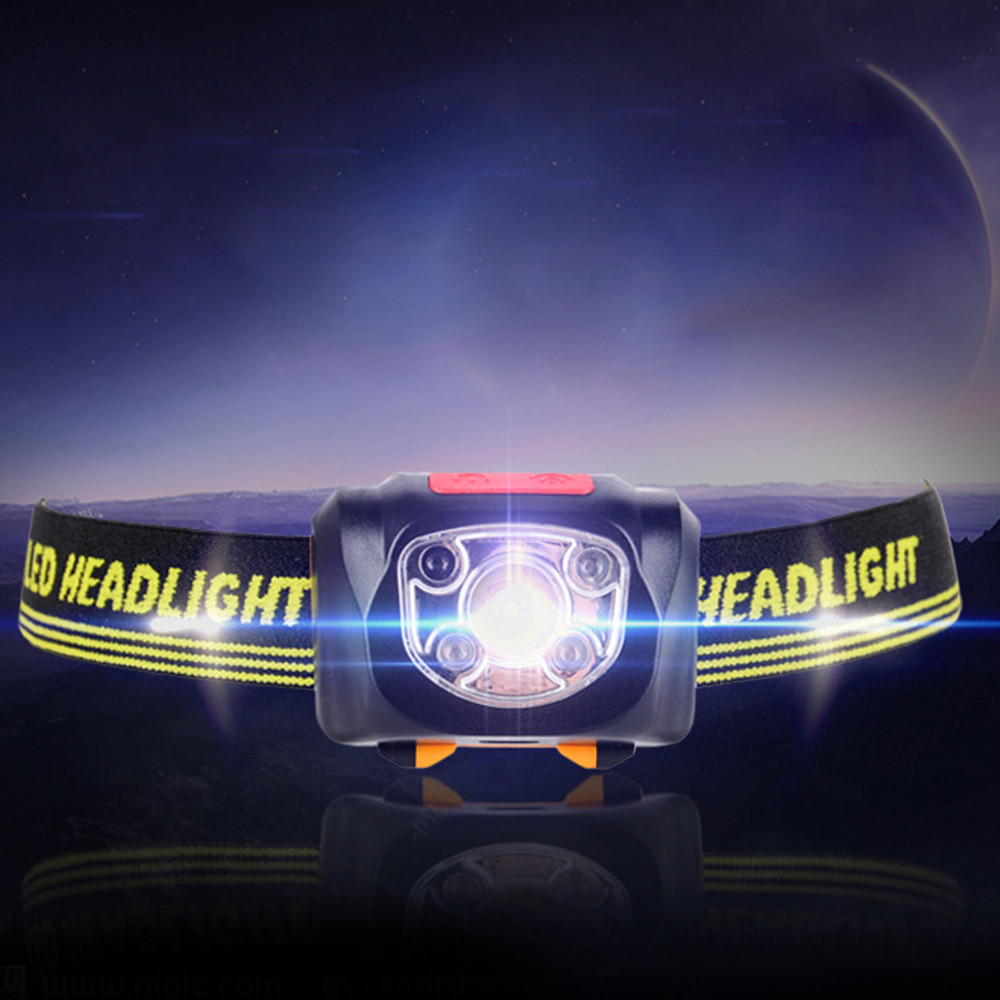 USB Rechargeable Strong Light LED Waterproof Sensor Headlights