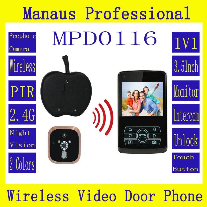 smart home 35 u0027u0027 screen touch video intercom phoneremote unlock 24ghz video