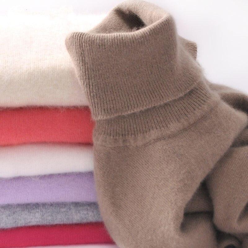 Cashmere Sweater Women's High Collar Women Plus Size Winter Knitted Cashmere Sweater For Women Warm Sweaters Women