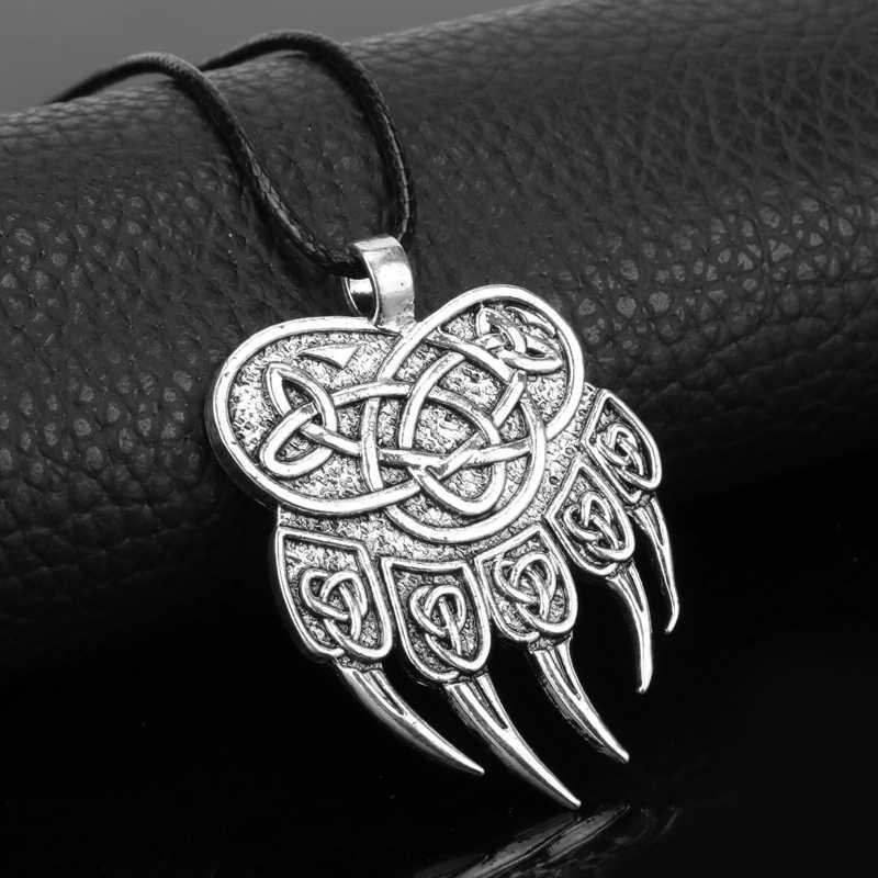 مجوهرات الفايكنج مخالب الذئب قلادة القلائد المعلقات الرجال النساء الشرير الشمال الرونية الدب باو تميمة قلادة هدية