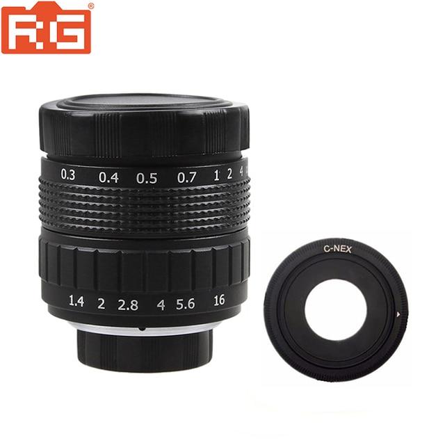 ฝูเจี้ยน50มิลลิเมตรF1.4กล้องวงจรปิดทีวีภาพยนตร์เลนส์+ C NEXภูเขาสำหรับSONY nex EเมาNEX3 NEX6 NEX7 A6500 A6300 A6000 A5000