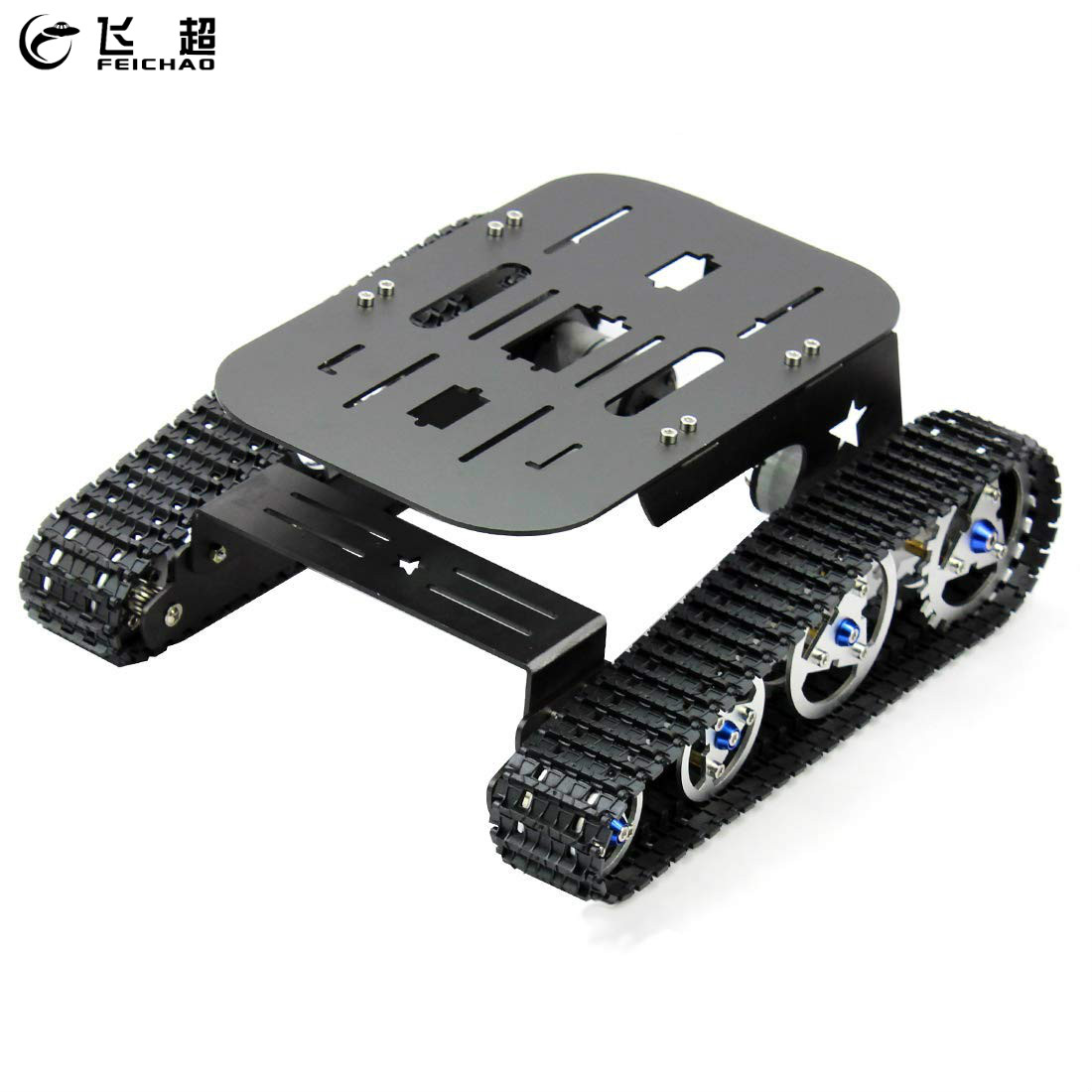 Assembled Obstacles Crossing Robot Intelligent Robot Tank Chassis Kit for DIY STEM Education For Arduino Accessory 27*23*11 cm diy robot kit bluetooth robot intelligent car for studying starter little turtle accessory