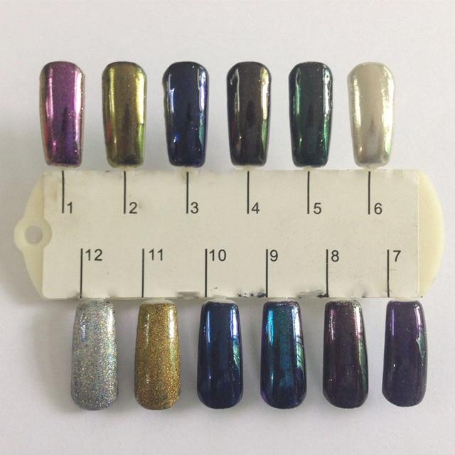 Espejo de Oro En Polvo Polvo de Pigmento Pigmento de Cromo De Aluminio En Polvo Del Clavo Del Brillo Del Pigmento de Cromo