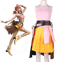 Free shipping Final Fantasy Cosplay Final Fantasy XIII 13 Oerba Dia Vanille Costume Dress