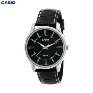 Наручные часы Casio MTP-1303PL-1A мужские кварцевые на кожаном ремешке