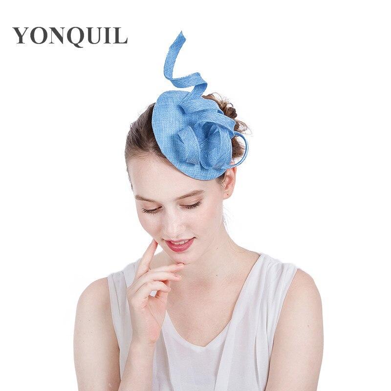 16 Colors Women Chic Fascinator Hat on hair clips Wedding Fancy Hair Accessories Party Church Headpiece Fashion Headwear SYF159 headpiece