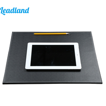 Big discount 40*36cm PU Leather Desk Mat Writing Pad Writing Pad Tablet Drawing Writing Board Square Office Style 1228