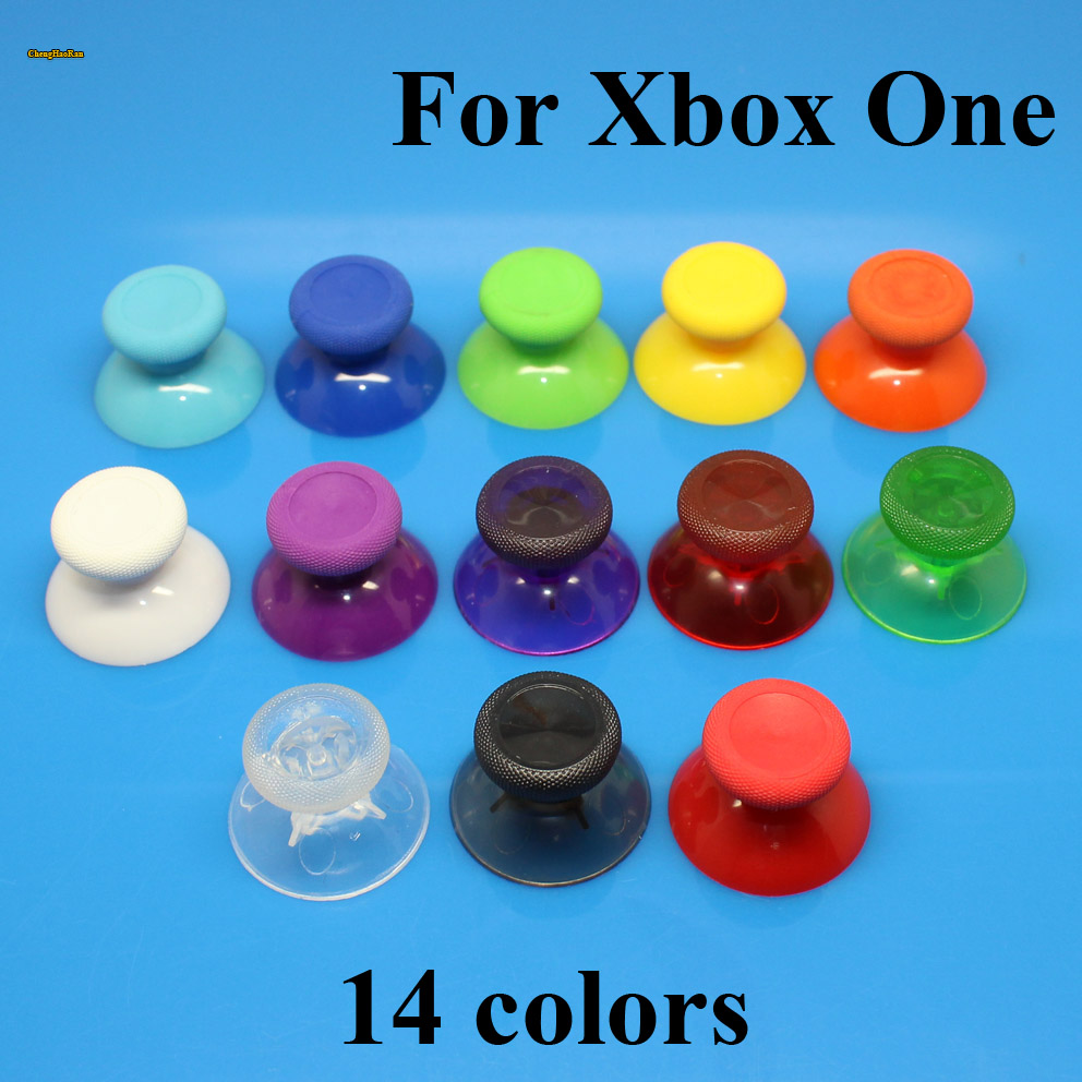 ChengHaoRan 14 color 2PCS 3D Analog Joystick Stick for XBox One X Elite S Slim Controller Analogue controller Caps Mushroom in Replacement Parts Accessories from Consumer Electronics