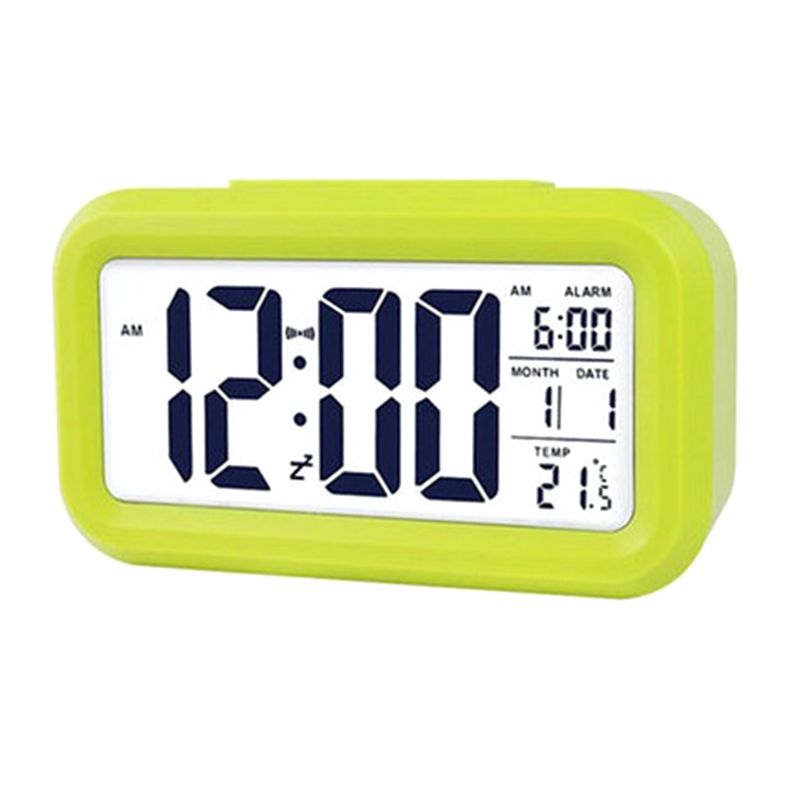 LCD Night Light Electronic Smart Digital Alarm Clock Date Temperature Display Repeating Snooze in Alarm Clocks from Home Garden