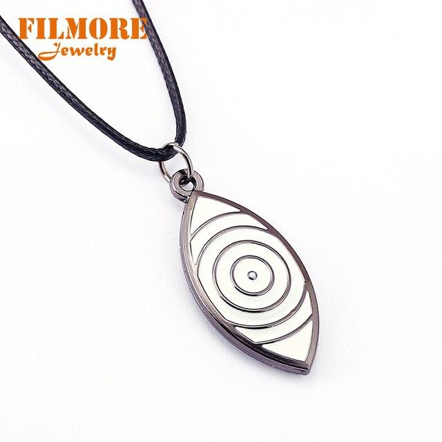 Naruto Choker Sasuke Eye Pendant Necklace