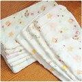 28*28 de alta calidad 100% pañuelo de gasa de algodón recién nacido al por mayor de dibujos animados puro towel muselina de la baba del bebé pequeña towel infantil