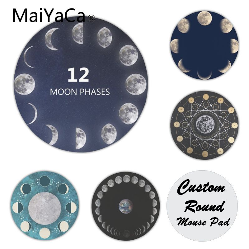 MaiYaCa Moon Phases Light Large Mouse pad PC Computer mat Hot Selling Fashion Design mouse mat