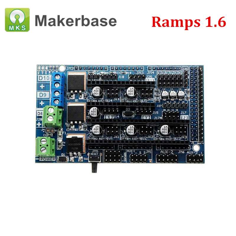 3D Printer Control Board Ramps 1.6 Expansion Panel 4 layers PCBs with Heatsink Parts Upgraded Ramps 1.4 Compatible Mega 2560 3D Printer Control Board Ramps 1.6 Expansion Panel 4 layers PCBs with Heatsink Parts Upgraded Ramps 1.4 Compatible Mega 2560